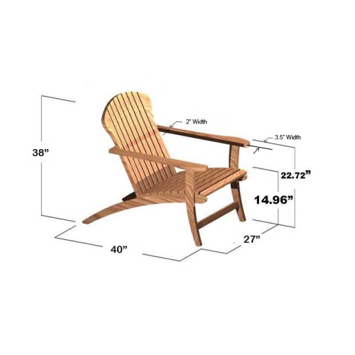 Teak Adirondack Chair - Picture O
