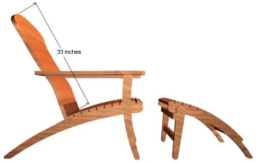 Teak Adirondack Chair Clearance Sale - Picture G