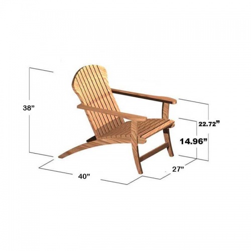 Teak Adirondack Chair Clearance Sale - Picture H