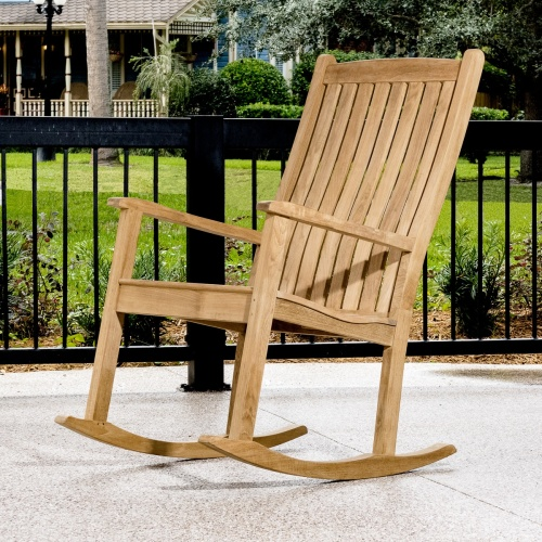 teak rocking chairs porch
