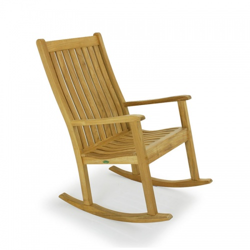 Wave Teak Rocker Chair - Picture A