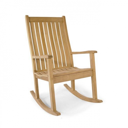 Wave Teak Rocker Chair - Picture B