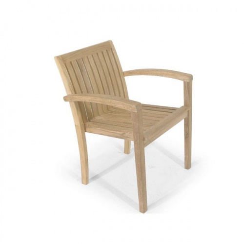 Teak Stackable Armchair - Picture A