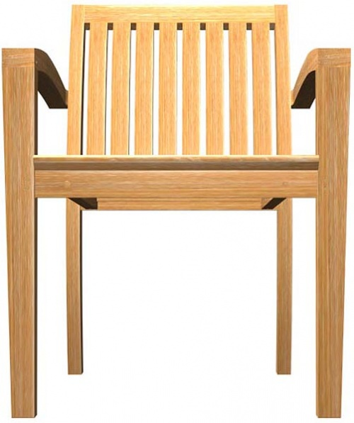 Teak Stackable Armchair - Picture G