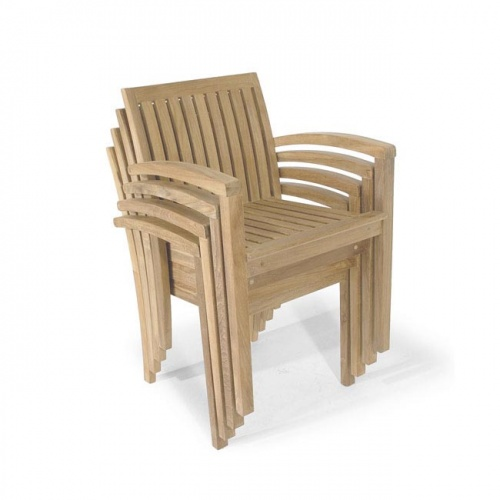 Teak Stackable Armchair - Picture B