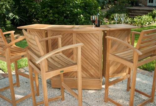 outdoor teak bar stools