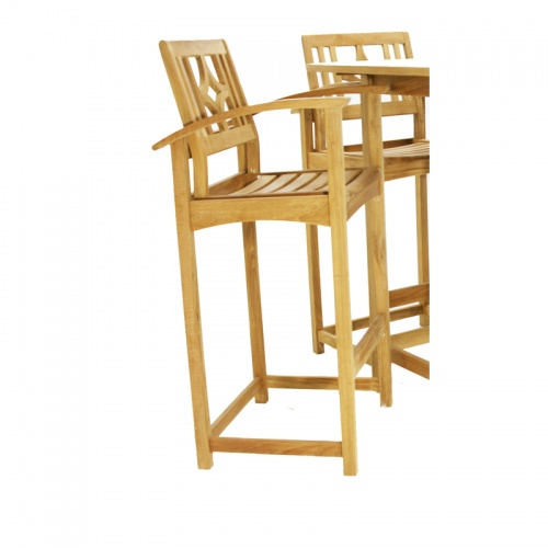 Teak Bar Stool Chair - Picture A