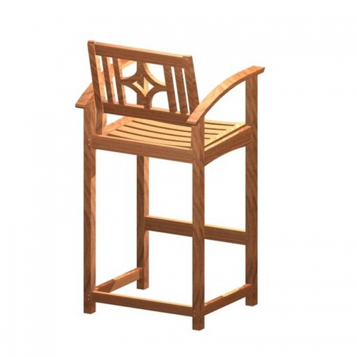 Teak Bar Stool Chair - Picture B