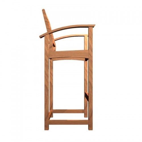Teak Bar Stool Chair - Picture C