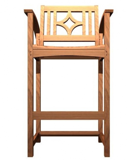 Teak Bar Stool Chair - Picture D