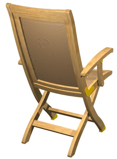 Teak Folding armchair - Picture E