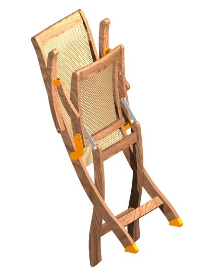 Teak Folding armchair - Picture G