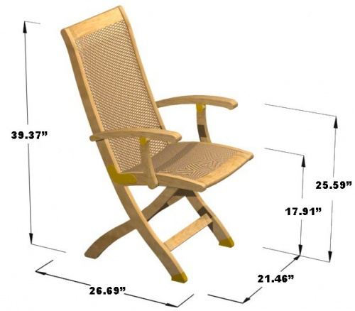 Teak Folding armchair - Picture H