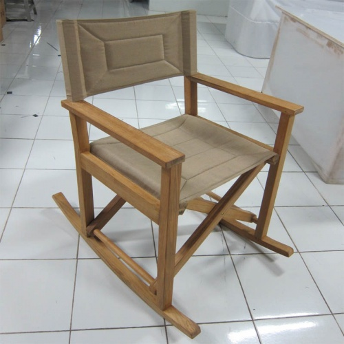 Teak Rocking Directors Chair - Picture A