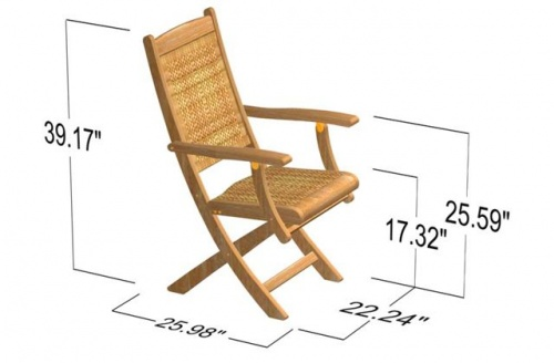 Bali Teak Folding Chair Clearance - Picture F
