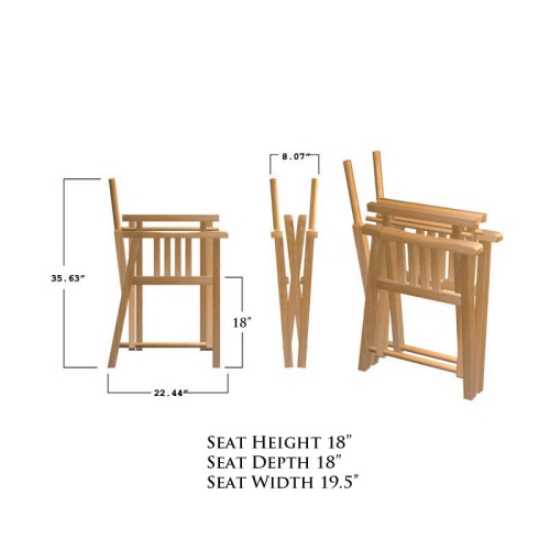 Barbuda Director Chair Frame - Picture L