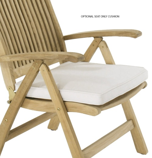 Barbuda Teak Folding Recliner Chair - Picture G