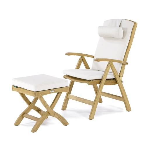 Barbuda Teak Folding Recliner Chair - Picture K