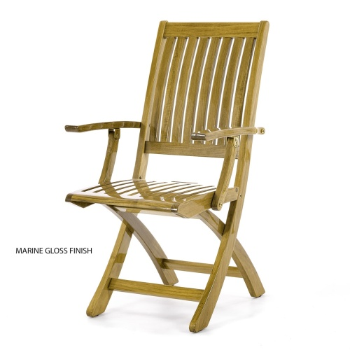 Barbuda Folding Teak Armchair - Picture C