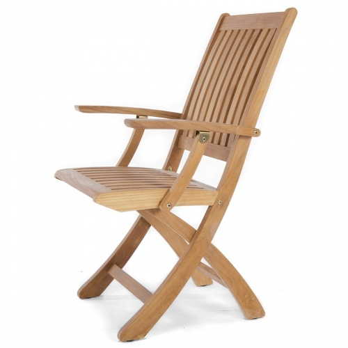 Barbuda Teak Folding Patio Chair Clearance Sale - Picture A