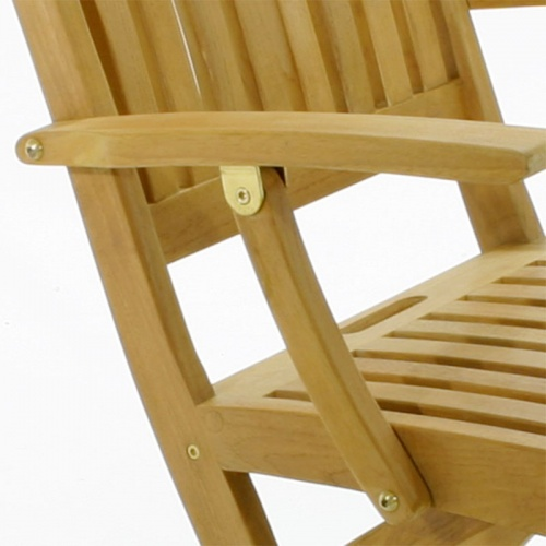 Barbuda Teak Folding Patio Chair  Refurbished - Picture B