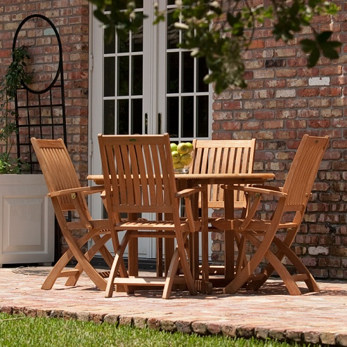 Barbuda Teak Folding Patio Chair Clearance Sale - Picture C
