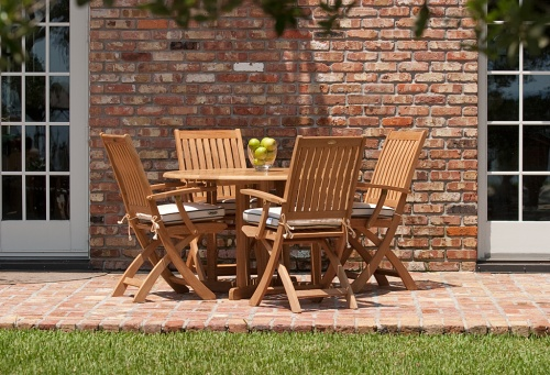 Barbuda Teak Folding Patio Chair Clearance Sale - Picture D