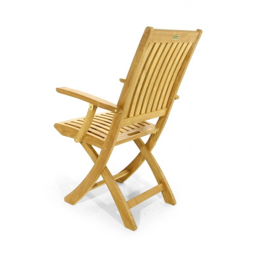 Barbuda Teak Folding Patio Chair  Refurbished - Picture F