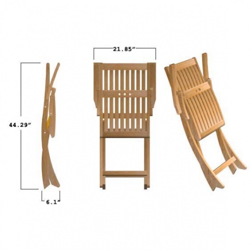 Barbuda Teak Folding Patio Chair Clearance Sale - Picture I