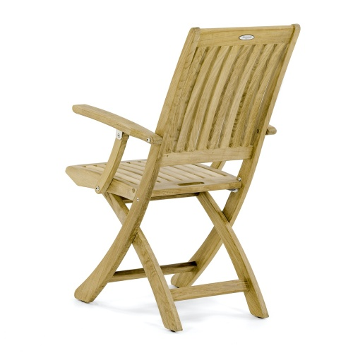Barbuda Folding Teak Armchair With Stainless Steel Hardware - Picture B