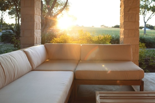 teak hlaf sofas