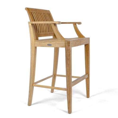 solid teak bar stools