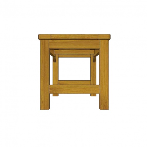 Waterproof Teak Backless Bench 3FT - Picture D