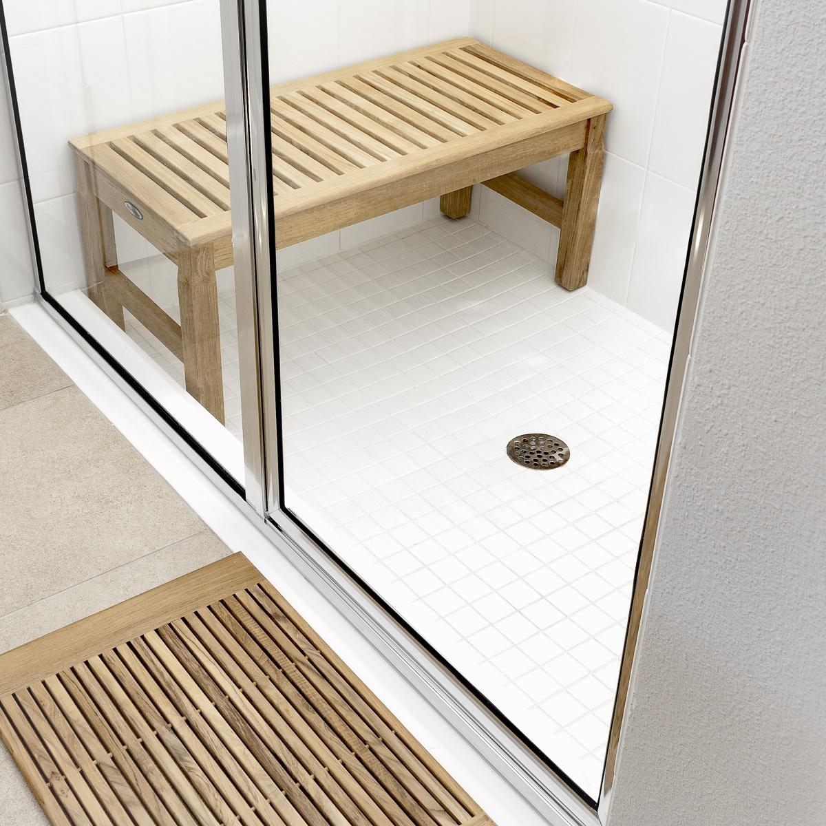Westminster Teak Waterproof Shower Stool Seat - Westminster Teak ...
