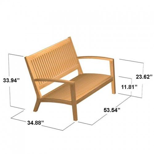 Teak Sofa - Picture F