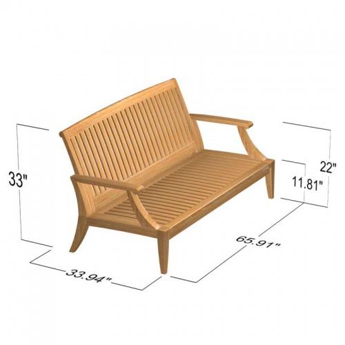 teak patio couches