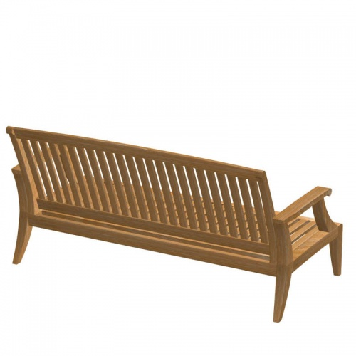 Deep Seating Teak Loveseat Sofa - Picture C