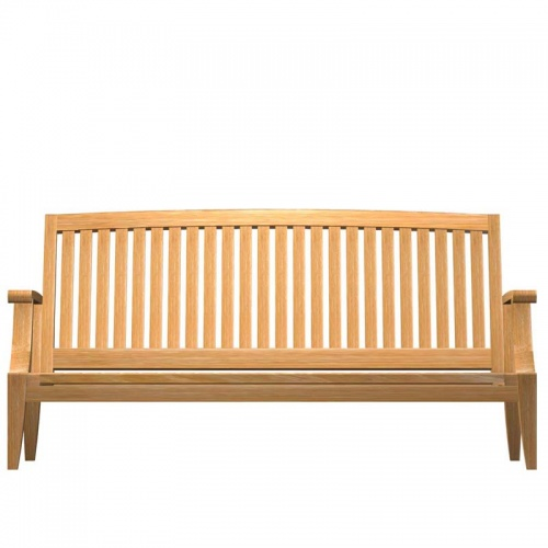 Deep Seating Teak Loveseat Sofa - Picture E