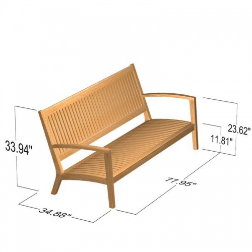 Teak Bench - Picture F
