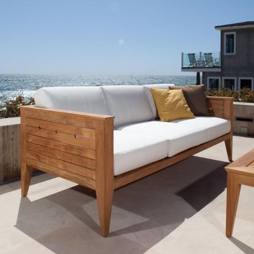 Craftsman Outdoor Deep Seating Teak Sofa Westminster