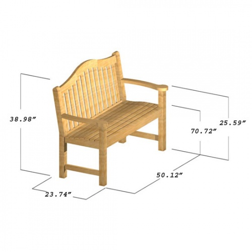 Mayfair 4 ft Bench - Picture E