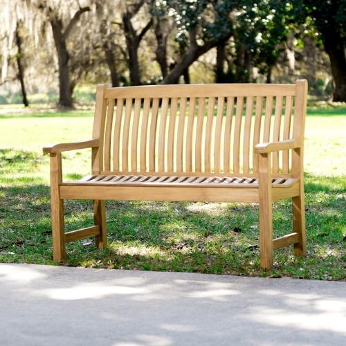 outdoor teak benches