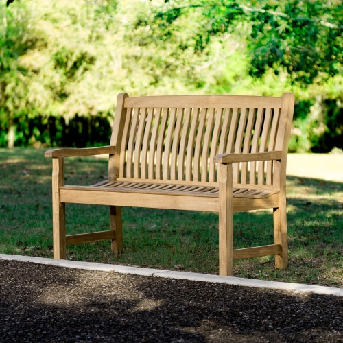 48 in teak benches