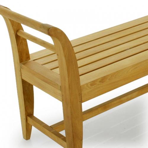 4ft Outdoor Indoor Teak Bench - Picture B