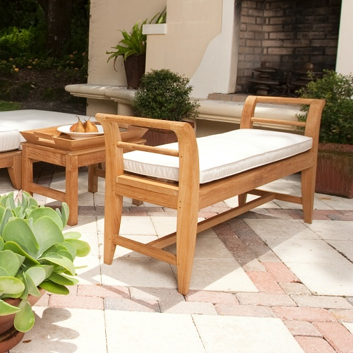 4ft Outdoor Indoor Teak Bench - Picture C