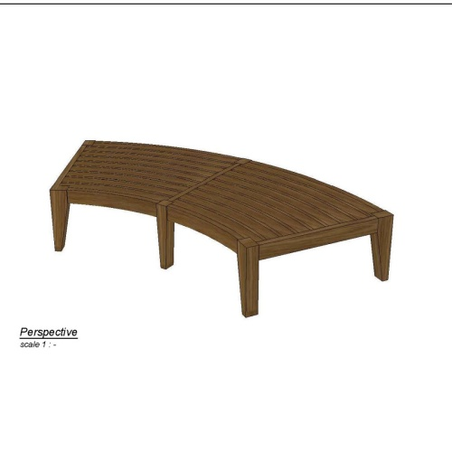Kafelonia Round Backless Bench - Picture B
