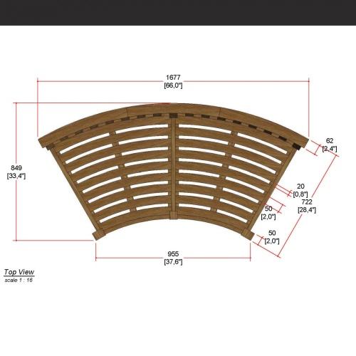 Kafelonia Round Bench - Picture E