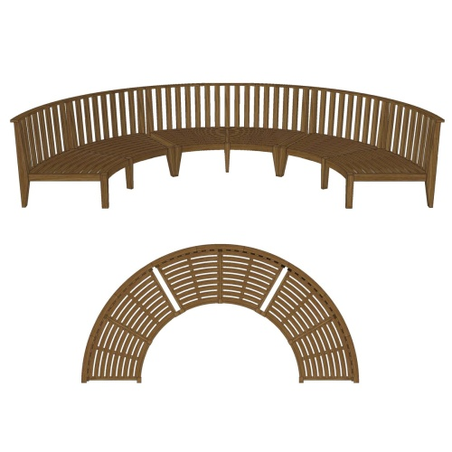 Kafelonia Round Bench - Picture F