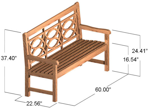 5 ft Eclipse Bench - Picture C