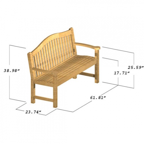 Mayfair 5FT Bench - Picture D
